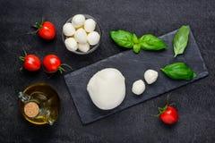 Formaggio italiano della mozzarella Fotografia Stock