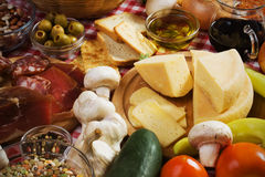 Formaggio italiano a pasta dura Immagini Stock Libere da Diritti