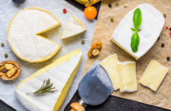 Formaggio a pasta molle del camembert e del brie Fotografie Stock Libere da Diritti
