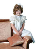 Formal Antiquated Portrait of a Young Girl Stock Photography