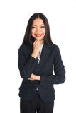 Formal Asian Business woman with crossed arms Royalty Free Stock Images