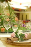 Formal Banquet. A high-res photo of a formal banquet. Main focus is on the flowers royalty free stock photo