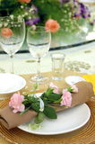 Formal Banquet. A high-res photo of a formal banquet. Main focus is on the flowers Royalty Free Stock Images