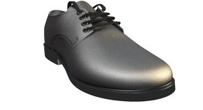 Formal Black Leather Shoe Stock Images