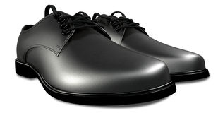 Formal Black Leather Shoes Perspective Royalty Free Stock Photo