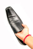 Formal black shoe Royalty Free Stock Photo