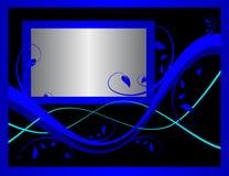 Formal Blue Floral Background Stock Images