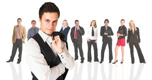 Formal businessman and group