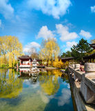 Formal Chinese garden in Spring Stock Image