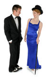 Formal Couple. Standing over white Royalty Free Stock Images