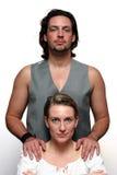 Formal couple portrait. A Formal couple portrait stock photo