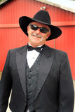 Formal Cowboy with Sunglasses stock image