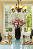 Formal Dining Room Setup for Tea and Snacks Royalty Free Stock Image