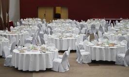Formal dinner service Stock Image