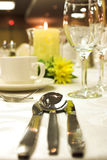 Formal dinner setting Stock Photography