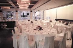 Formal Dinner Setting. A Formal Dinner Setup for a Corporate or Marriage Event Stock Photo