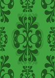 Formal Edwardian seamless. Antique style seamless pattern on a green background Royalty Free Stock Photos