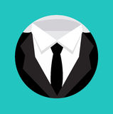 Formal elegant suit shape flat design Stock Photos
