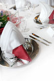 Formal, elegant table decoration in red Royalty Free Stock Image