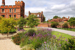A Formal English Garden at Eton College Royalty Free Stock Photography
