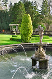 Formal English Garden, Rydal Hall Royalty Free Stock Image