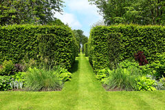 An Formal English Landscaped Garden Stock Image