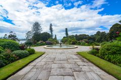 Formal flower gardens of the historic Sydney Government House in Australia Stock Image