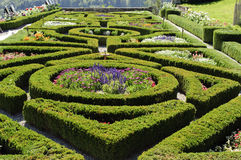 Formal French Garden. At Gruyere, Switzerland Royalty Free Stock Photo