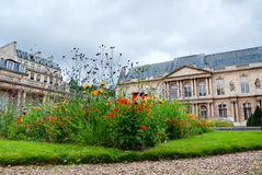 Formal Garden. Park of a public building in Paris, France Royalty Free Stock Image