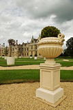 Formal garden. A beautiful formal garden of this Elizabethan mansion stock image