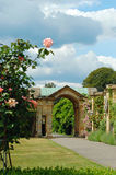 Formal garden arundel castle england. With cloudy sky Royalty Free Stock Photo