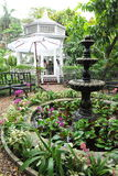 Formal Garden. Beautiful Antique Fountain in a Tranquil Formal Garden Royalty Free Stock Images