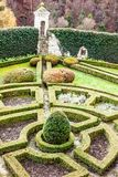 formal garden in castle Pieskowa Skala  Royalty Free Stock Image