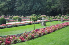 Formal Garden Of Chenonceau Castle Royalty Free Stock Photo