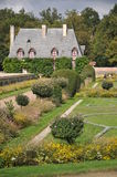 Formal Garden At Chenonceau Castle With Cottage Stock Photos