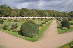 Formal Garden At Chenonceau Castle Stock Photography