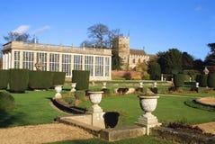 garden and Church  Royalty Free Stock Photos