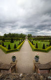 Formal garden on a cloudy day in Dublin Stock Photos