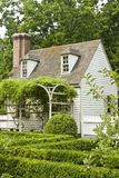 Formal garden in Colonial Williamsburg Stock Photos