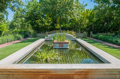 Formal garden on a farm near Paarl Royalty Free Stock Image
