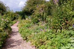 Formal garden flower bed Stock Image