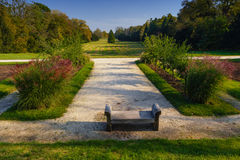 Formal garden in Lednice Royalty Free Stock Images