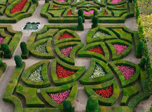Formal Garden - Loire Valley - France Stock Photography