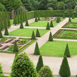 Formal garden. Formal ornamental garden with grren plants and a geometrical layout Stock Photo