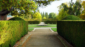 Formal garden in the park Stock Photography