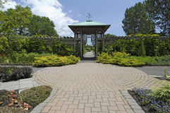 Formal Garden Path. A formal garden path and atrium at a local botanical garden Royalty Free Stock Photos