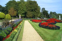 A formal garden pathway Royalty Free Stock Photo