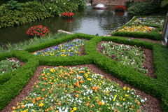 Formal garden planting Royalty Free Stock Images