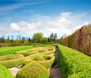 Formal Garden in spring Royalty Free Stock Photo