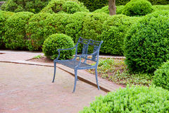 Formal garden at spring Royalty Free Stock Photo
